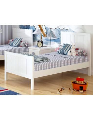 Cama infantil blanca madrid muebles noel for Cama blanca