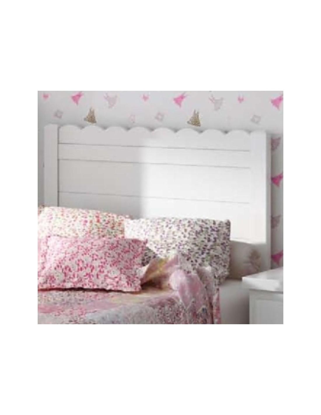 Cabecero infantil blanco madrid muebles noel - Cabeceros de cama blancos ...