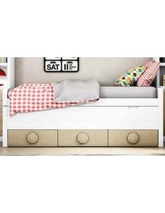 Bicama juvenil con 2 camas iguales