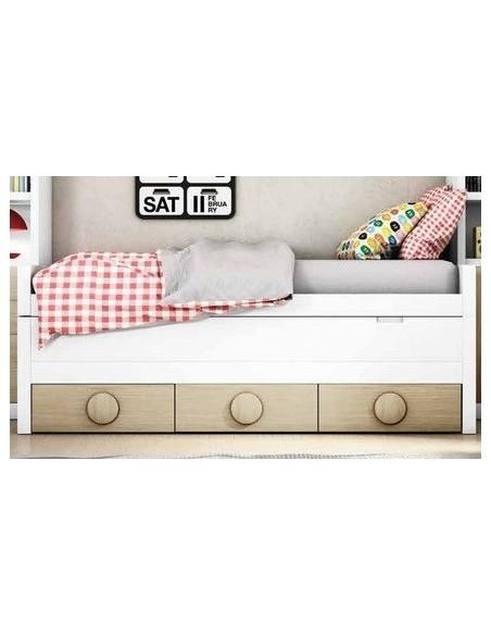 Bicama juvenil con 2 camas iguales.