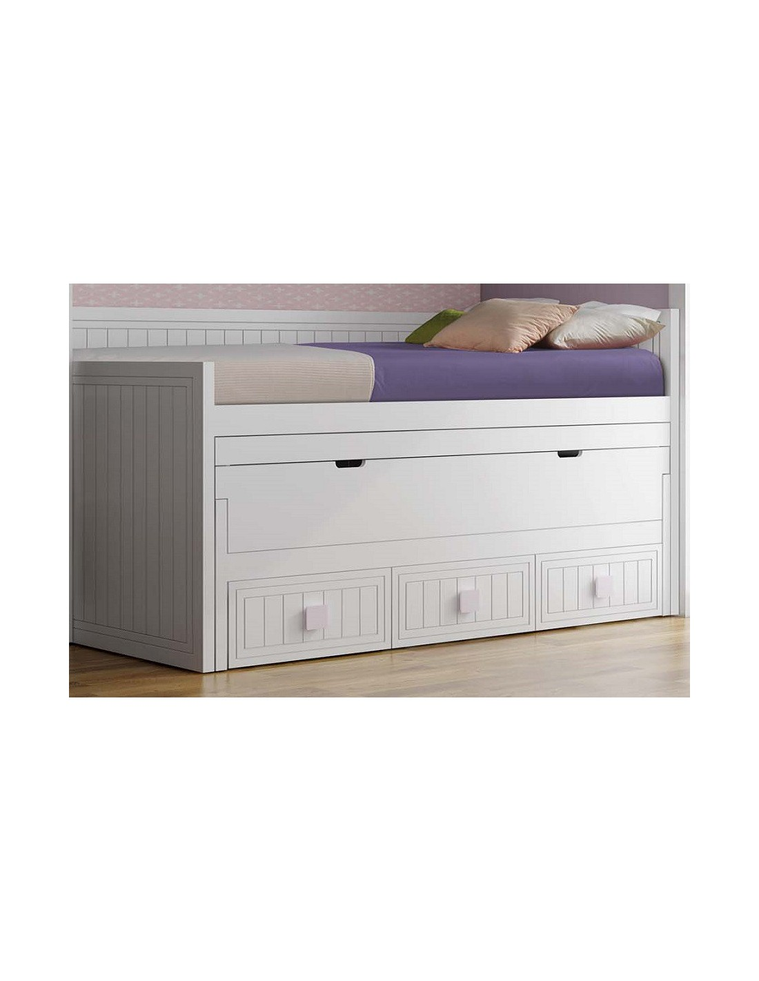 Cama compacta con escritorio muebles jueveniles noel for Cama compacta infantil