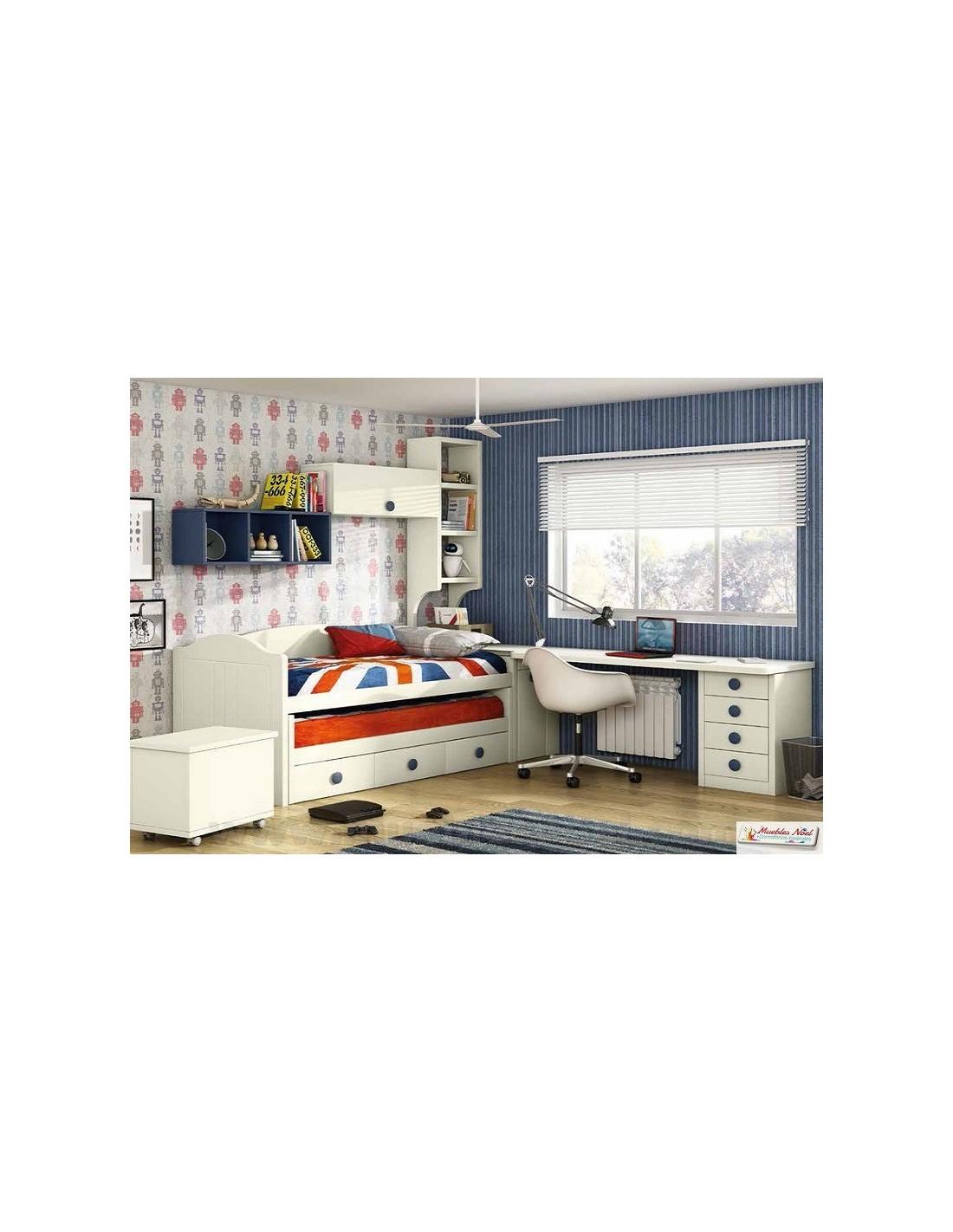 Dormitorios juveniles en l dormitorios juveniles with for Habitacion puente juvenil