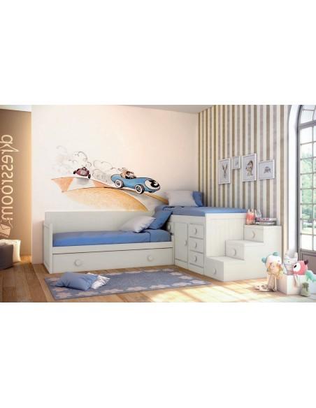 Dormitorio camas rincón