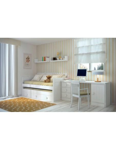 Dormitorios juveniles blancos