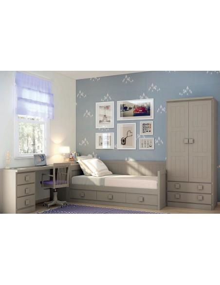 Dormitorios juveniles Camas Nido romantico