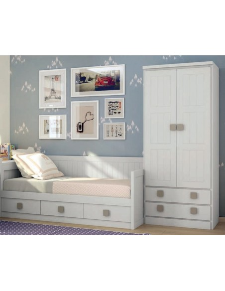 Dormitorios juveniles Camas Nido romantico blanco