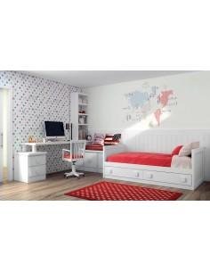 Dormitorio Juvenil blanco a medida