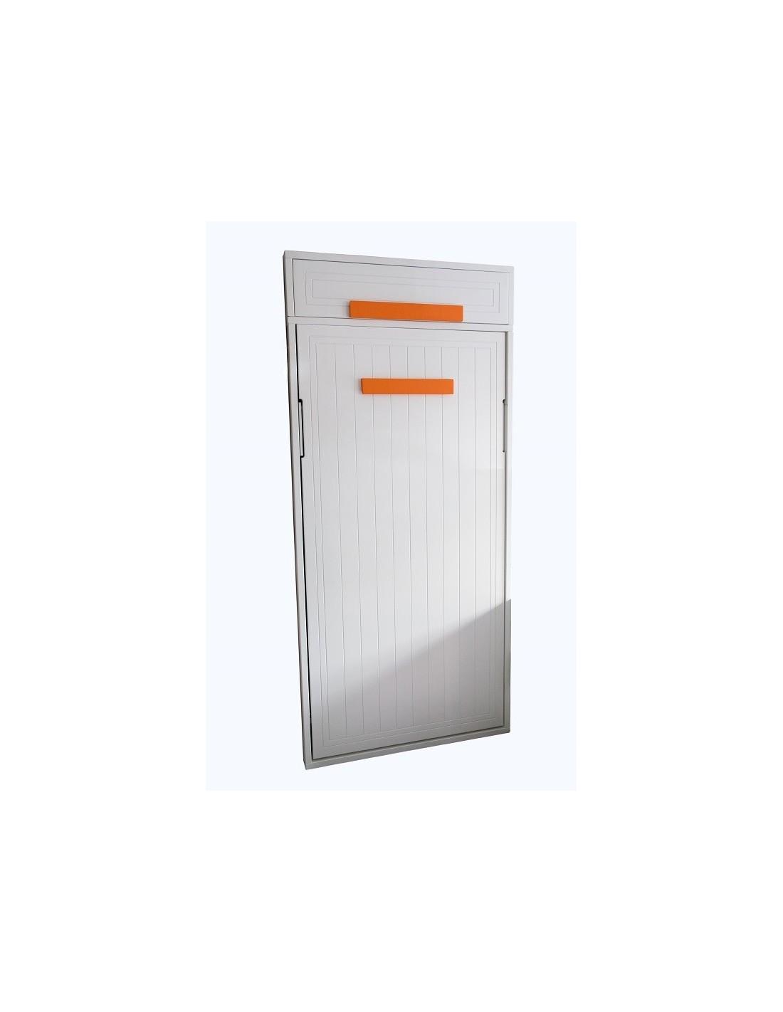 Oferta de cama abatible vertical lacada en blanco for Liquidacion camas nido