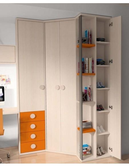 Armario-para-dormitorio-juvenil-en-color-beige-de-Muebles-Noel-en-Madrid