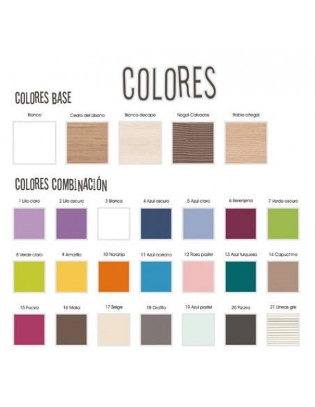 Colores para Cama Gondola Flor