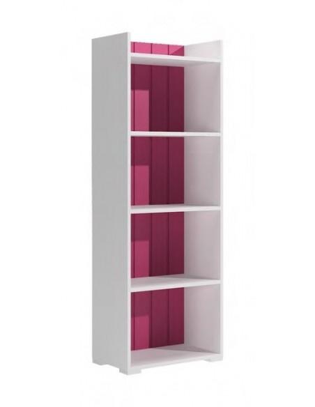Libreria blanca-fucsia