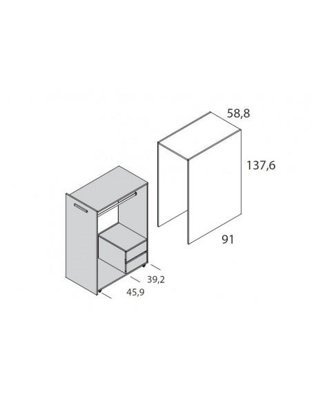 medidas armario extraible de litera