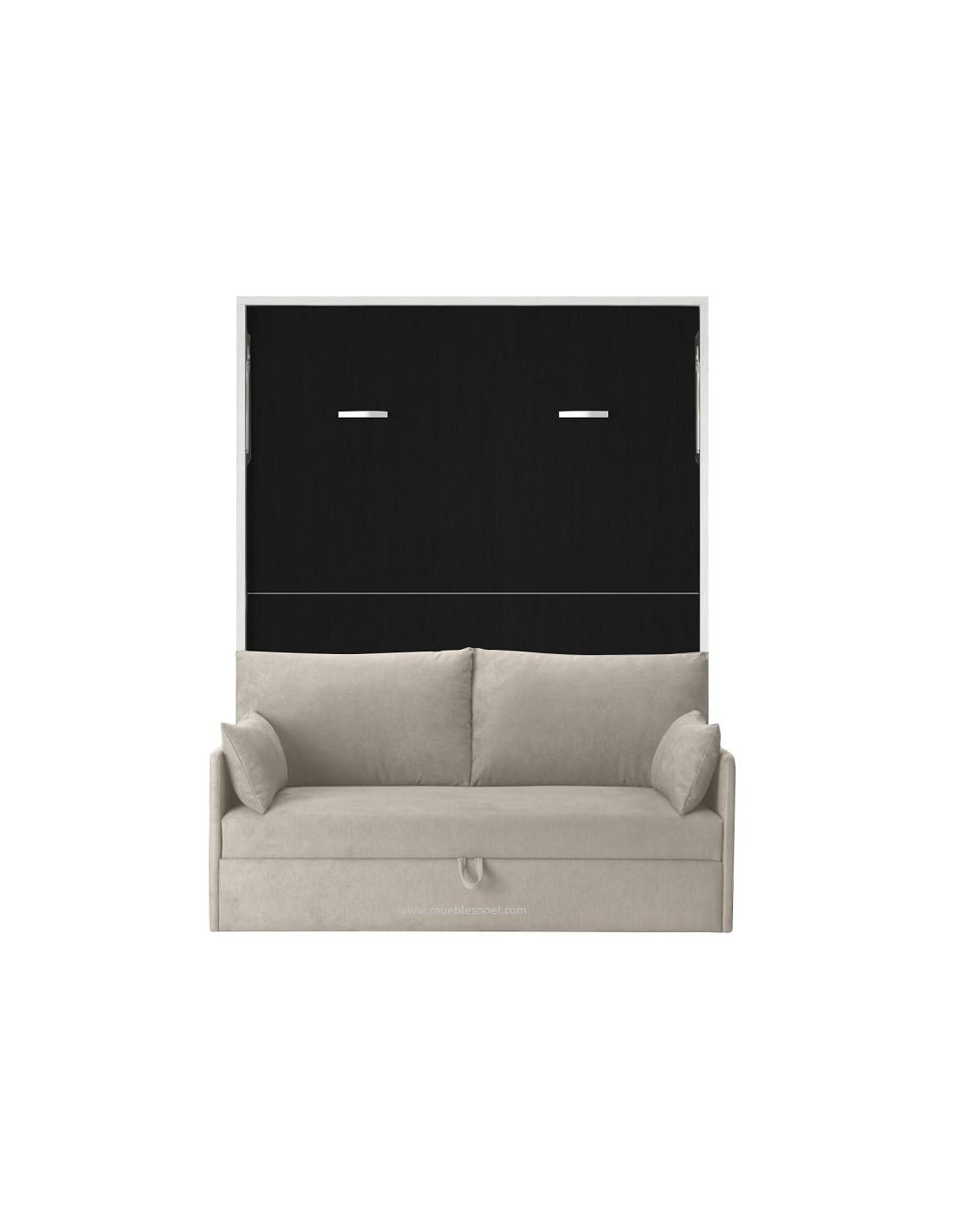 La cama abatible con sofa por delante barcelona cuesta for Camas divan juveniles