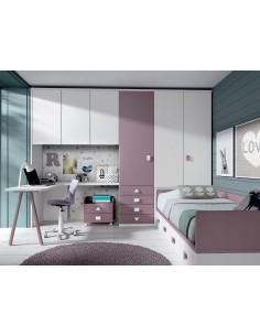 Comprar dormitorio juvenil puente tienda muebles online for Dormitorios juveniles a medida