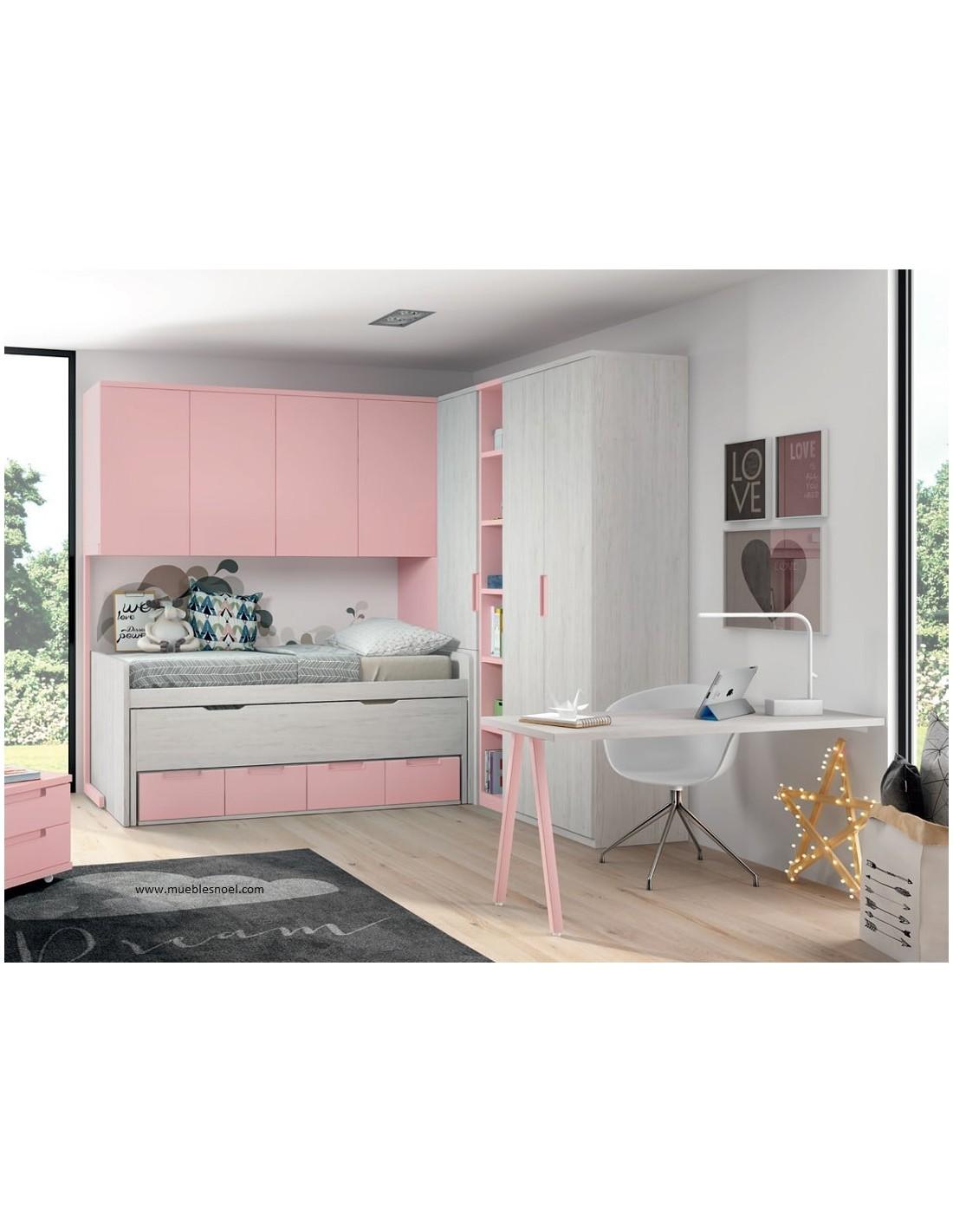 Comprar habitaci n puente tienda online muebles noel for Muebles juveniles albacete