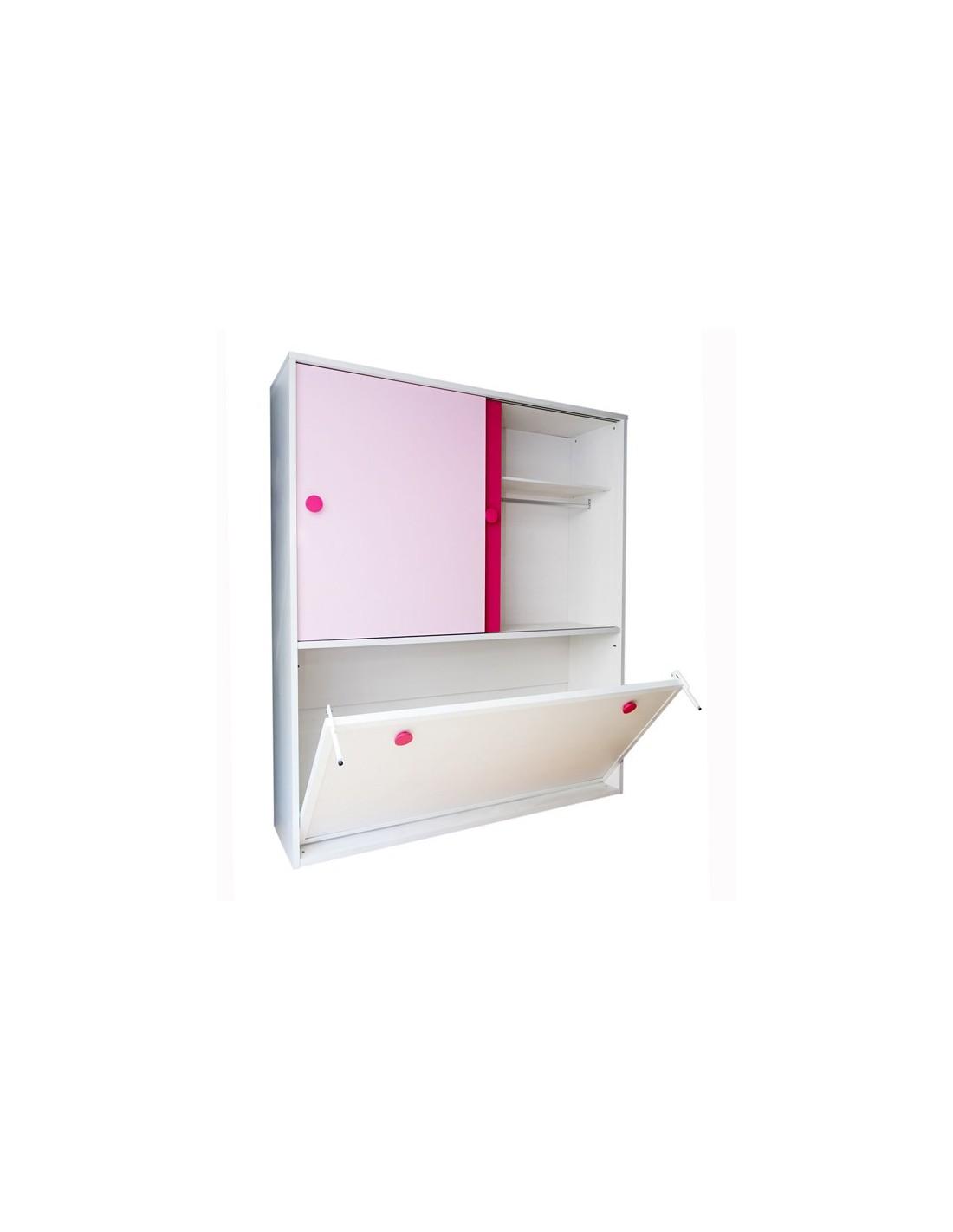 Artesanato Luminaria Madeira ~ Cama abatible horizontal con armario en oferta Muebles Noel
