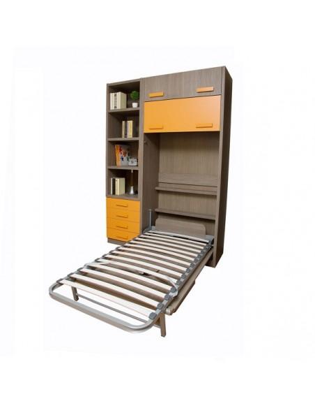 Cama vertical con mesa