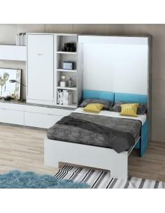 Cama-abatible-vertical-de-matrimonio-abierta-para-instalar-en-paredes-de-pladur-con-sofa-delante