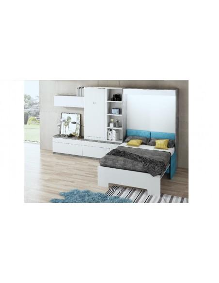 Foto-de-muebles-para-pisos-pequeños-con-cama-abatible-mesa-oculta-sofa-y-tv