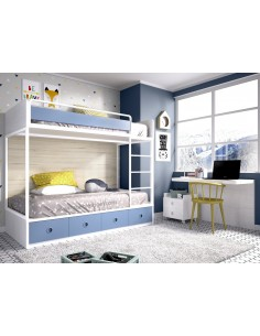 Dormitorio con litera juvenil Mobel 6