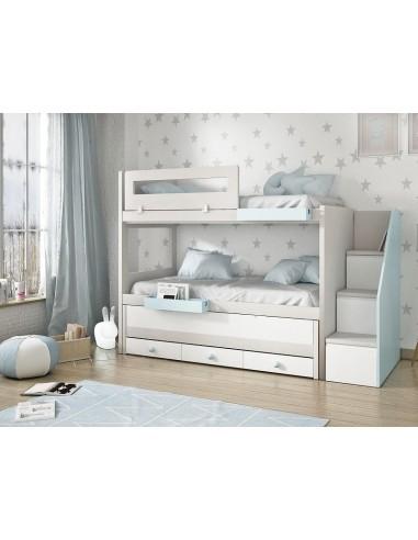 Litera con 3 camas y escalera modelos Manzanares