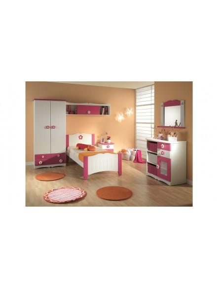 Dormitorio infantil con Cabecero Lacado Flor