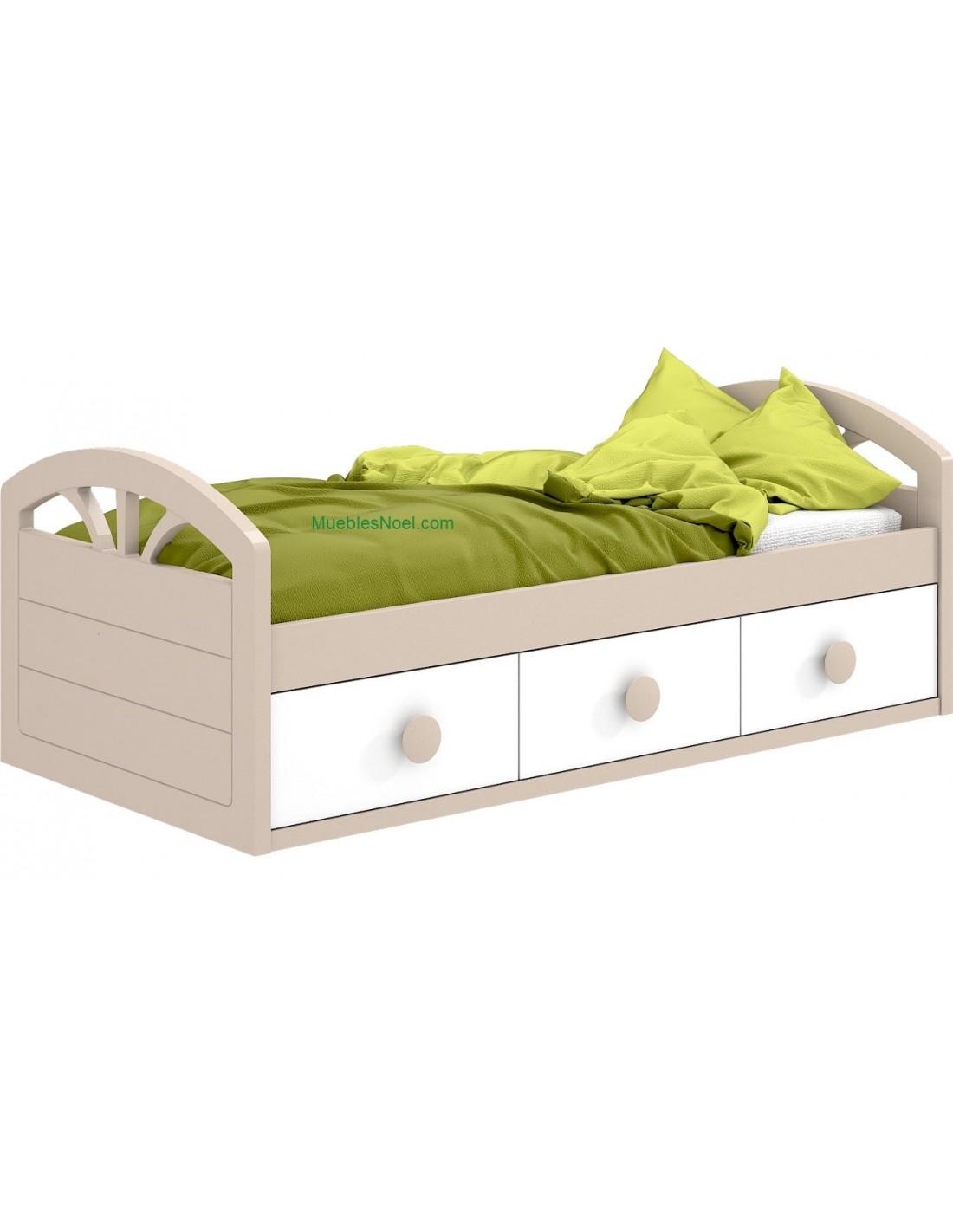 Comprar cama nido divan con cajones tienda muebles online for Cama divan con cajones