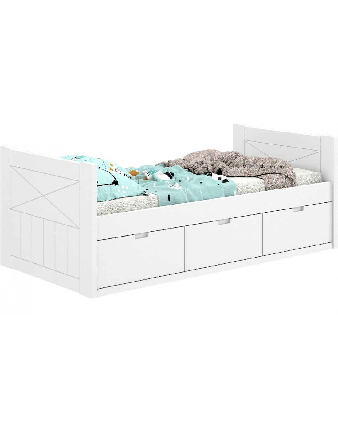 cama nido blanca con cajones La Almudena