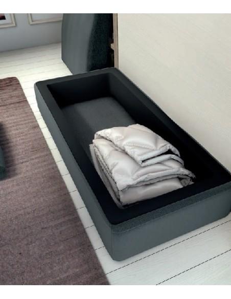 Detalle de sofa para cama abatible