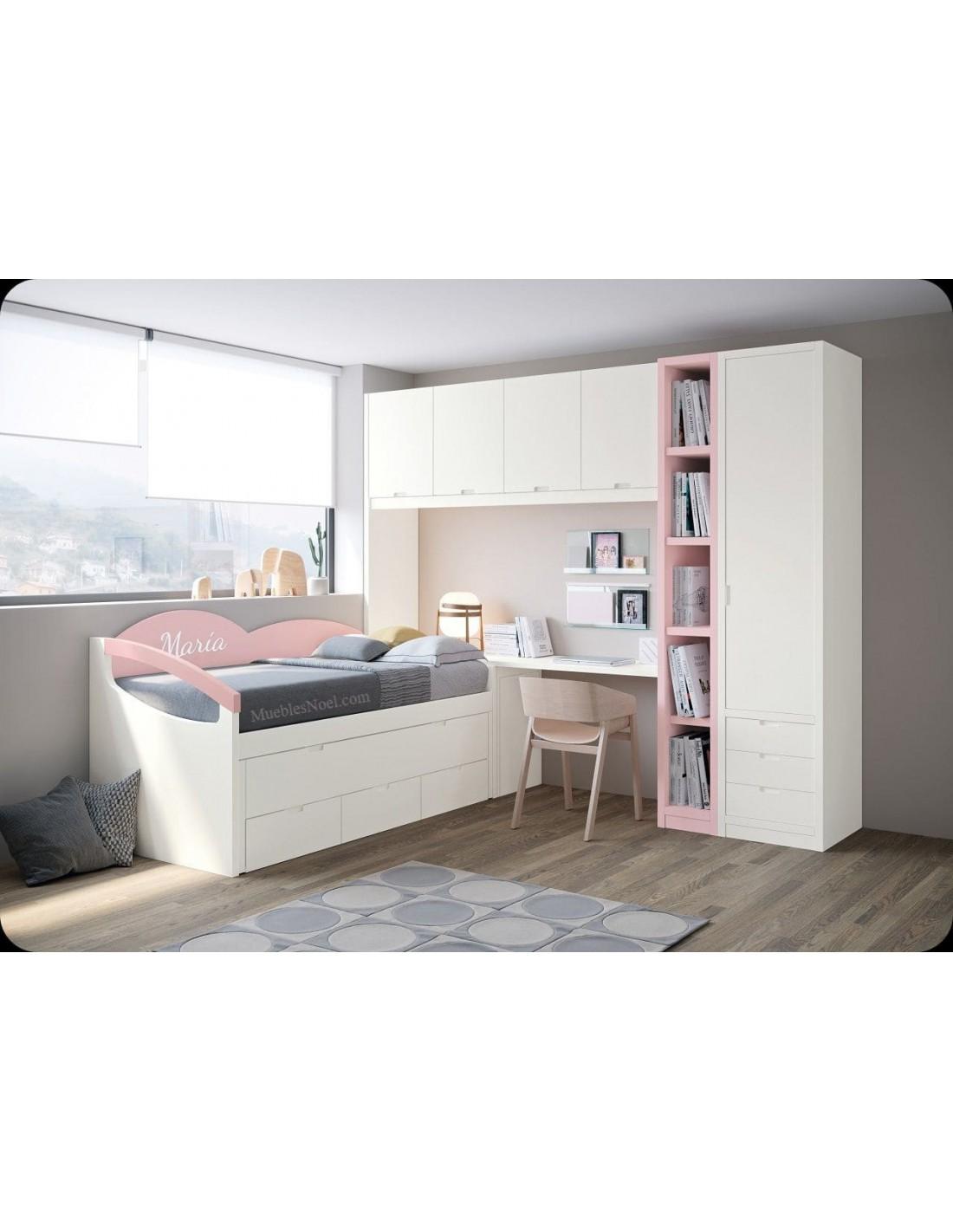 Dormitorio blanco Maria de Muebles Noel