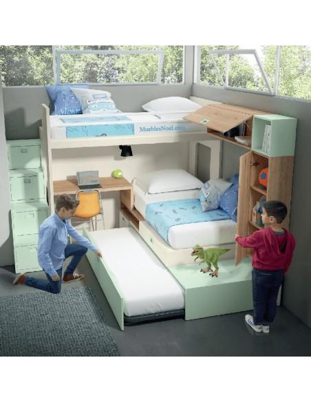 Litera-con-3-camas-Rio-Rosas-Madrid-Muebles-Noel