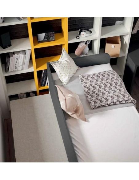 Detalle cama juvenil deslante