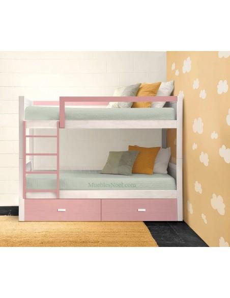 litera-blanca-con-cajones-rosa-de-muebles-noel