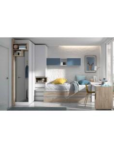 Dormitorio-juvenil-Madrid-con-camas-mesa-y-armario