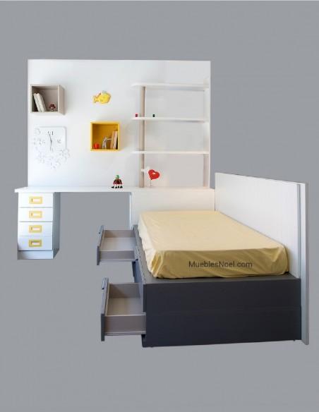Dormitorio juvenil blanco en liquidación en Madrid