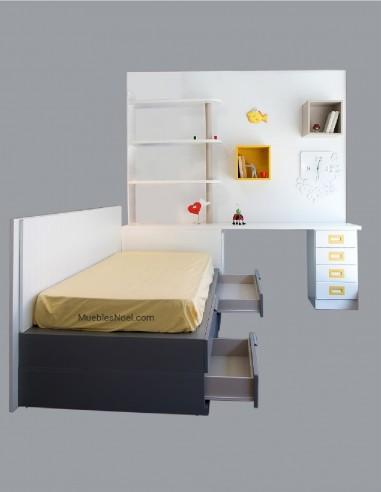 Dormitorio-juvenil-blanco-lacado-en-liquidacion-Madrid