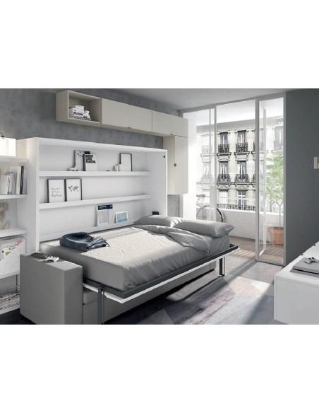 cama horizontal abierta de matrimonio con sofá canapé