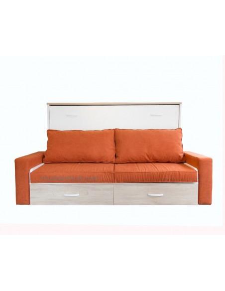 Cama abatible lateral con sofá delante EL ESCORIAL MADRID