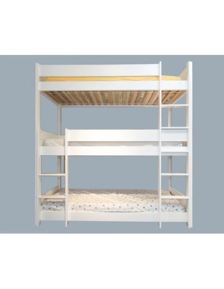 Litera blanca 3 camas Triplelit.