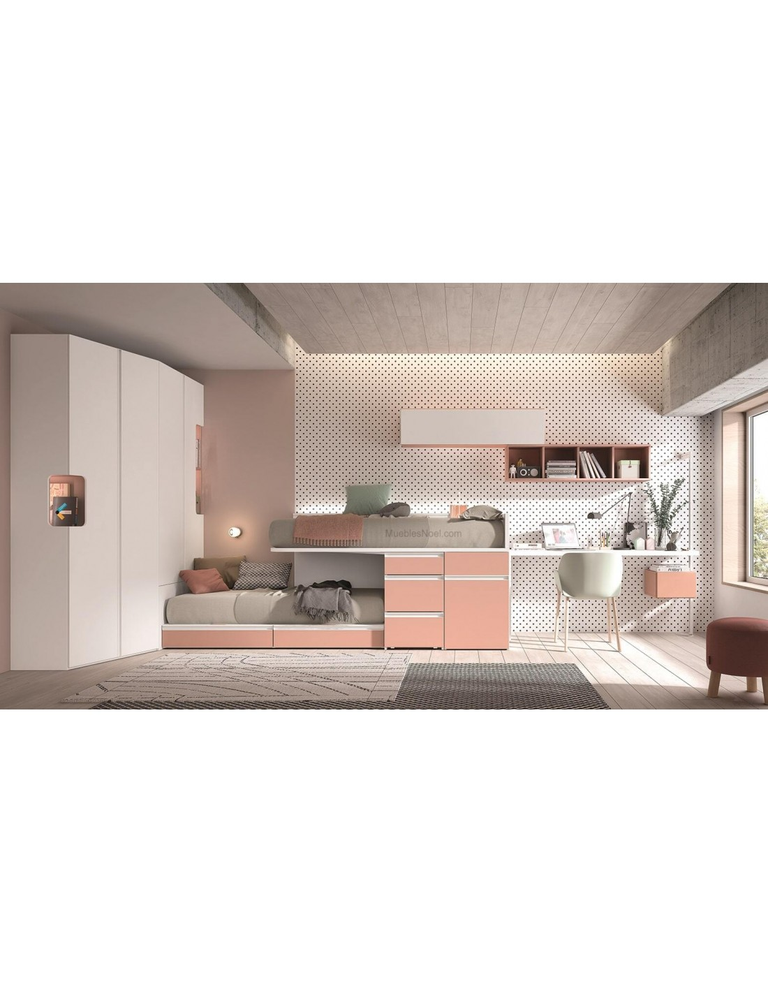 Dormitorio Juvenil Rosa 28014 Madrid