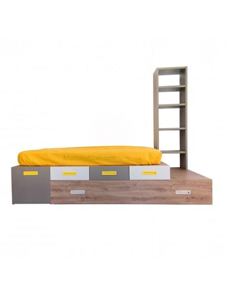 Dormitorio juvenil moderno con cama nido Tami Follow.