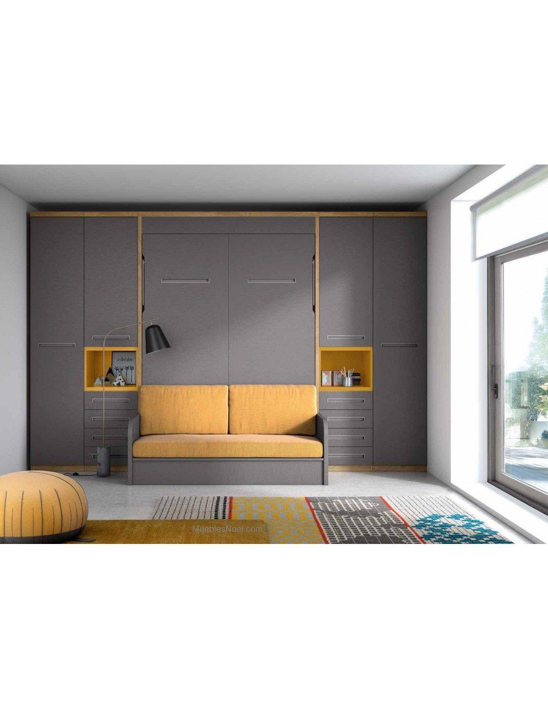 Armario con cama dentro y sofá debajo Centro Madrid.