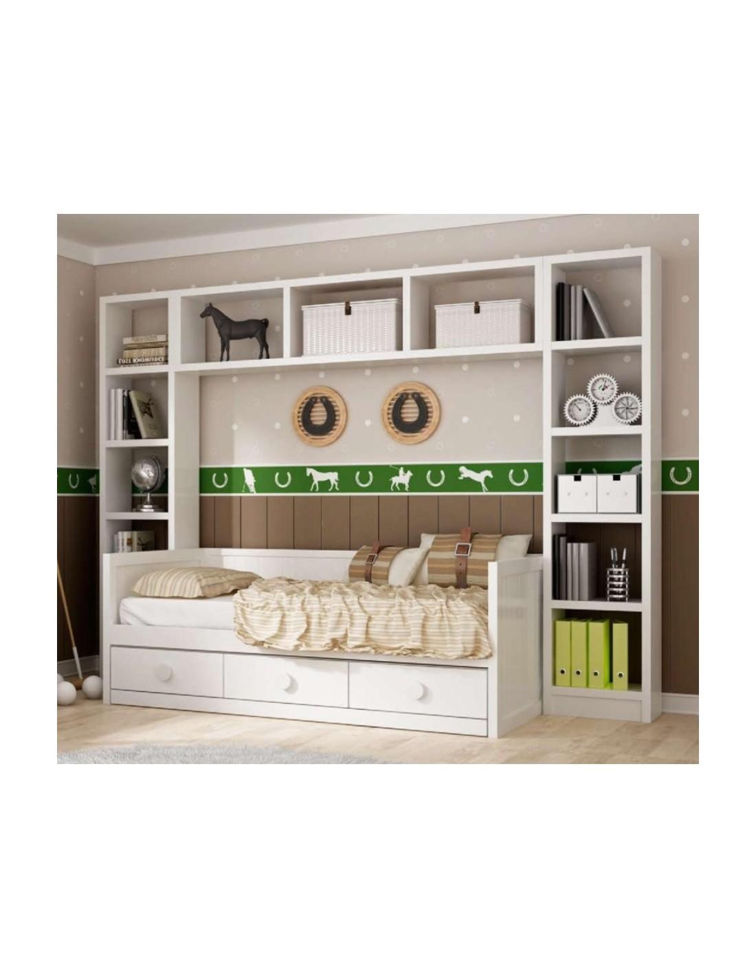 Dormitorio juvenil puente blanco - Dormitorio infantil blanco ...