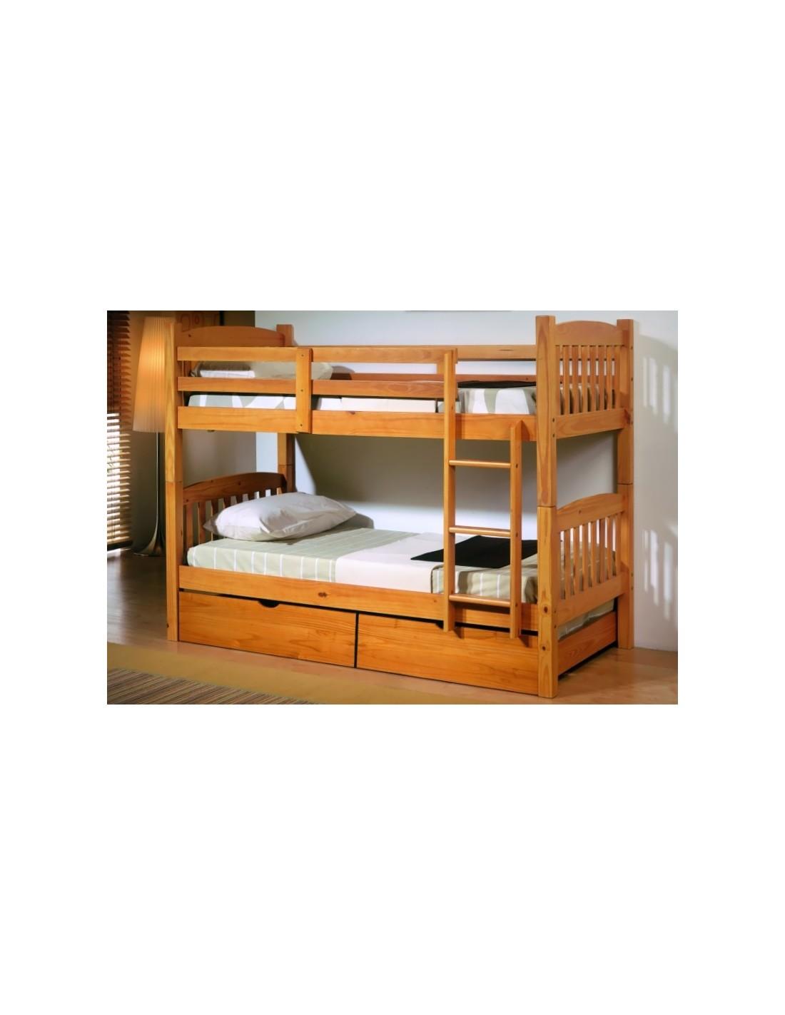Litera de madera en madrid muebles noel - Literas de madera maciza ...