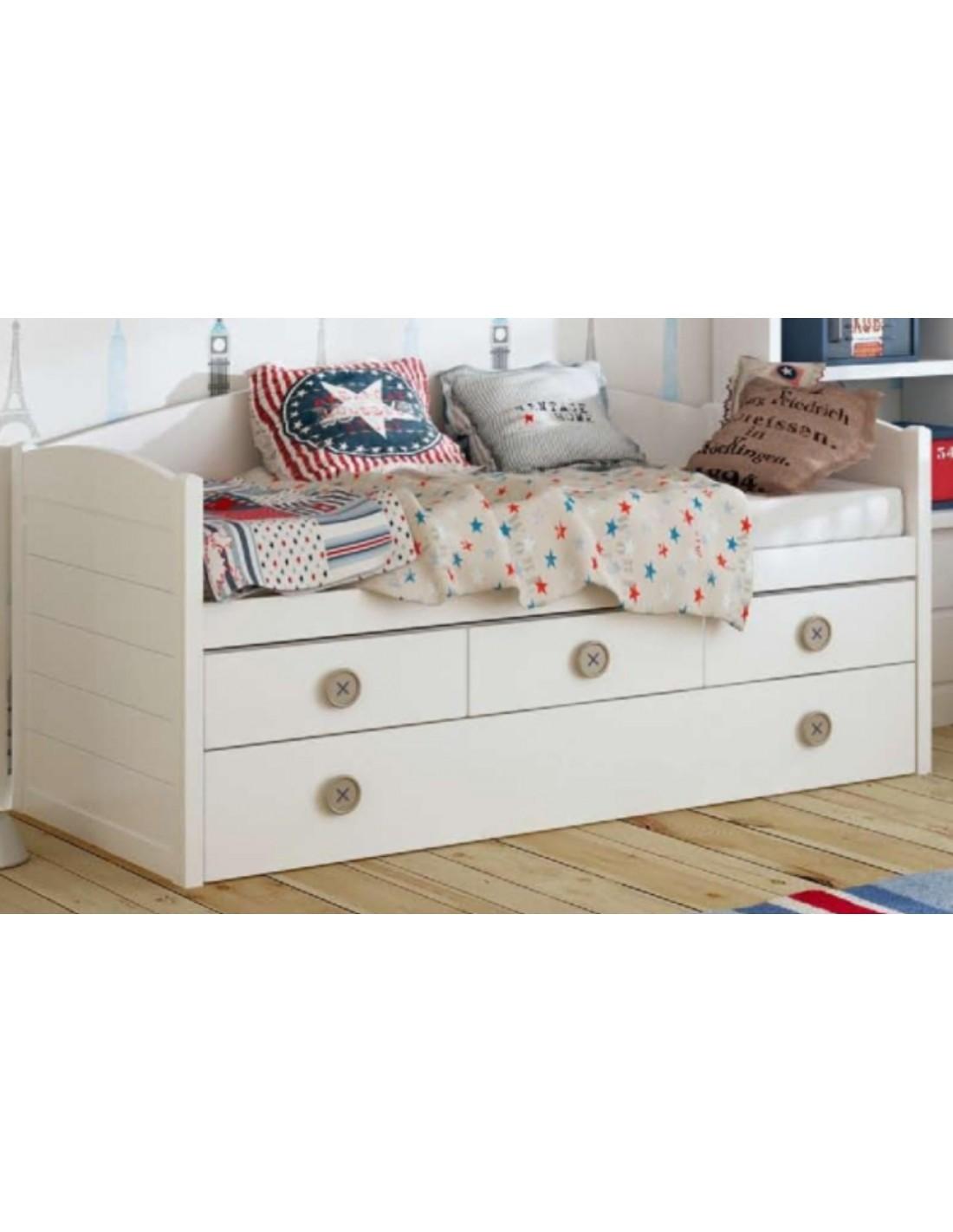 Cama nido bot n dormitorios infantiles blancos muebles - Dormitorios infantiles blancos ...