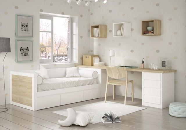 Dormitorio juvenil lacado de madera